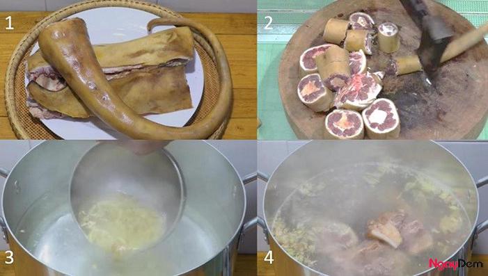 Sơ chế đuôi bò cho món đuôi bò hầm khoai tây