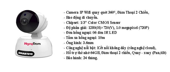 Camera IP Wifi IPW829 1MP